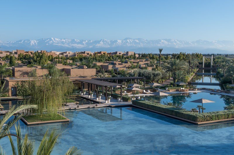 Pool With Atlas Mountains View