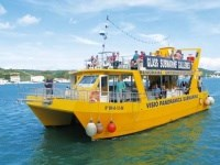 Yellow Catamaran Glass-bottom boat